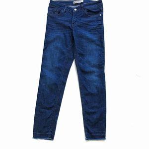 Zara Basic Z1975 Denim Blue skinny Jeans Sz 2